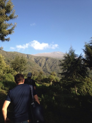 Hiking to the Elephant spot. This is at 10,000ft and you can see the ridge of Mt. Meru