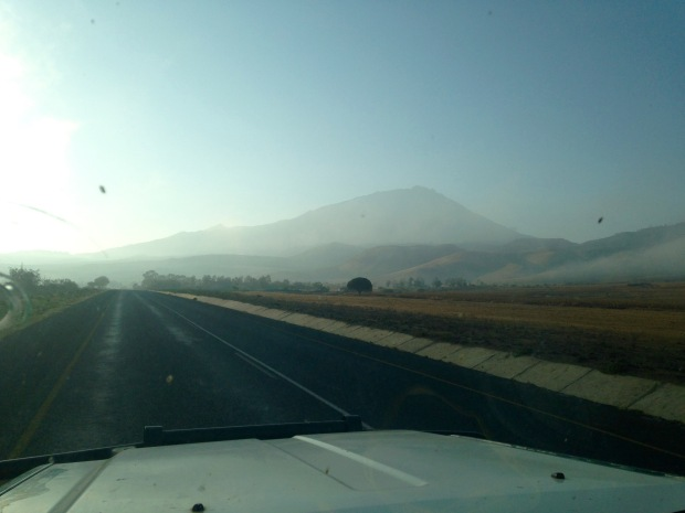 Driving to Longido