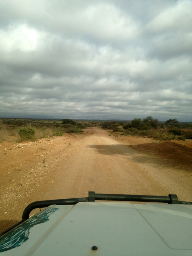 Dirt road to the small village