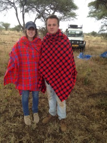 The Masai helped us bundle up properly