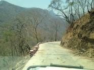 Road down the mountain to the Rukwa