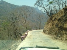Road down the mountain to the Rukwa