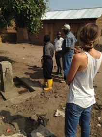 Examining a water project in one of the local villages in the Rukwa