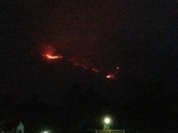 The glow of seasonal fires from our hotel in Morogoro