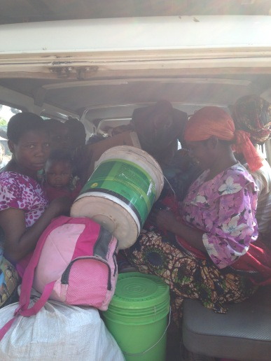 Transporting a bunch of people and stuff from the valley up the mountain on our way home