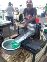 Fresh sugar cane juice - Stone Town