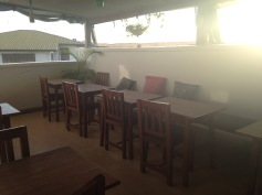 Our rooftop breakfast nook