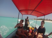Our boat for snorkeling