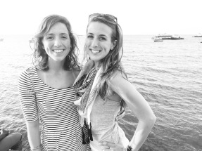 My sister and I in Stone Town