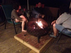 family time around the fire