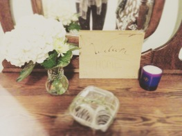 My sisters are the best....Cute welcome home sign, fresh flowers, and chocolate covered strawberries on my arrival :)