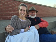 My dad and I at my sisters soccer game