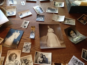 Mema's birthday celebrated by looking through old photos :)