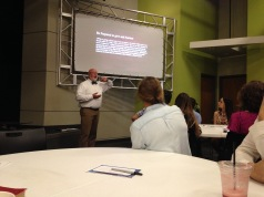 Sitting in on my dad teaching the highschool sunday school class at church