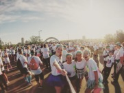 The Color Run with my sis!