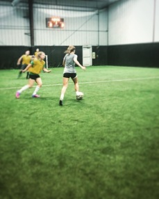 I was able to join in an indoor soccer game with all my siblings!