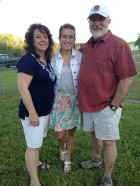 With my parents on my birthday