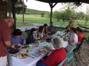 Birthday dinner at my brothers house/farm
