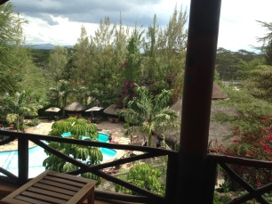 View from the lodge in Kenya