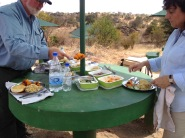 picnic lunch while on safari