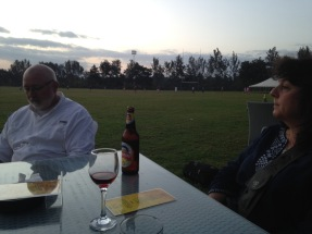 TGT happy hour with mom and dad in Arusha