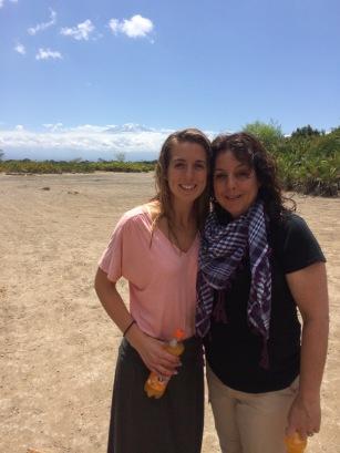 At Maji Moto with Mt. Kilimanjaro behind us