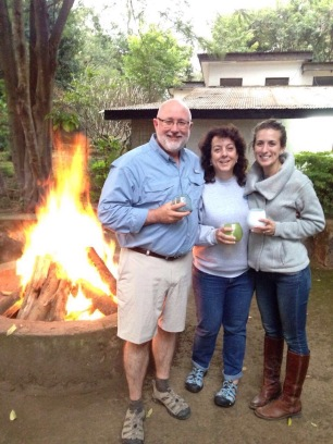Fire, drinks & cookout at our house in Arusha