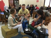 Waiting for our flight from Mbeya to Dar