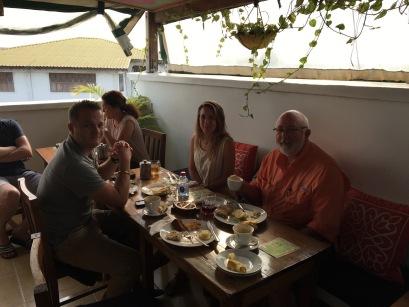 rooftop breakfast at our hotel in Zanzibar