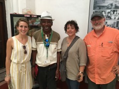 At the old slave market museum/church with our guide 'Morgan Freeman'