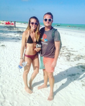 Staying hydrated in the intense Zanzibar heat!