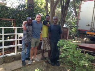 The packing crew at our house in Arusha