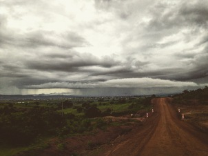 Drive into Sumbawanga town from our new house