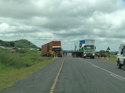 Not a proper TZ road trip without a few broken down trucks blocking the road ;)