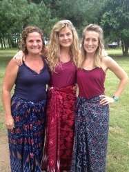 Local community celebration with Colton's Mom and sister