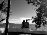 Enjoying the view of the lake and Congo Mountains at Lake Tanganyika