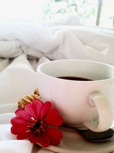 Coffee in bed at Lake Tanganyika