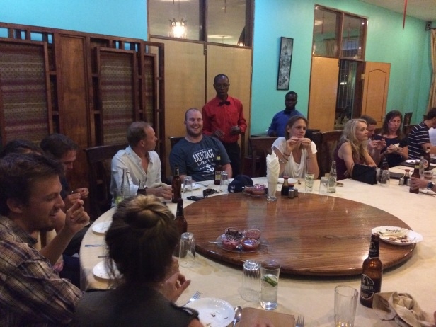 Farewell dinner - Chinese food, Arusha