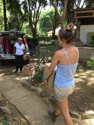 Loading the cars for the move - Arusha