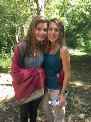 Colton's sister and I at the river by their house