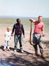 Colton, Amu and his Dad - Africa 1990's