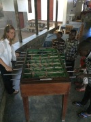 Foosball tournament at Matema - Lake Malawi