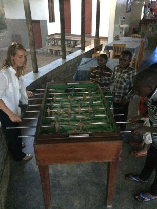 Foosball tournament at Matema - Lake Malawi