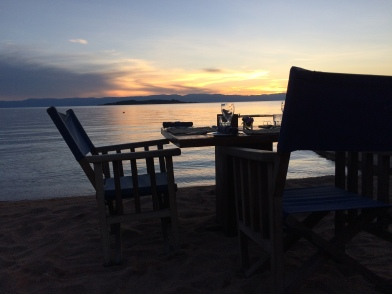 Dinner at sunset - Lake Tanganyika