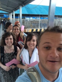 Boarding the ferry to Zanzibar - So stoked!