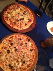 Pizza in Dar while we wait for my sisters! Very much a treat as we can not get pizza where we live :)