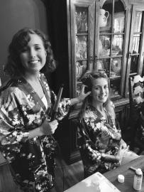 Hair and makeup wedding prep
