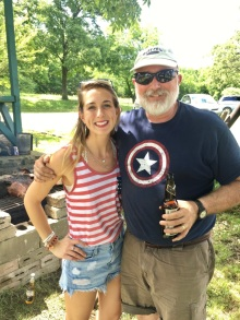 With my dad -4th of July