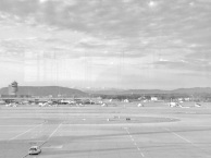 Layover in Switzerland - Faint view of the Swiss Alps