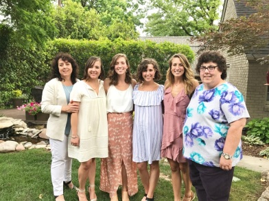 Bridal Shower - Mom, sisters, bride, and aunt